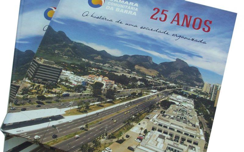Câmara Comunitária da Barra da Tijuca lança livro dos 25 anos de sua trajetória.