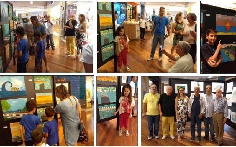 Exposição no Barra Shopping das obras participantes no concurso de Artes nas Escolas realizada pela CCBT…