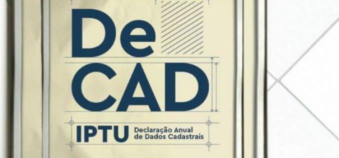 Decad: Declaração para imóveis sem inscrição imobiliária começou dia 13 de outubro